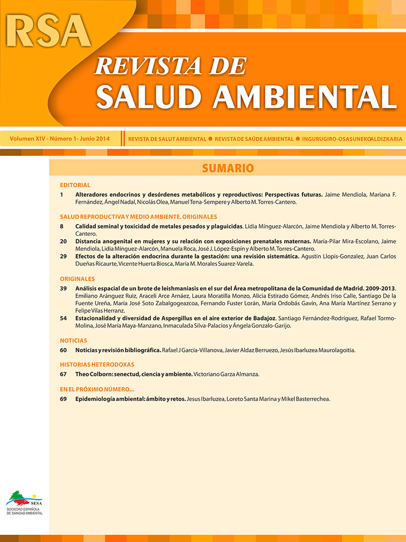 Revista de Salud Ambiental 14 (1) 2014